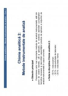 Chimie analitică 2 - Pagina 1