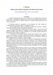 Notiunea, natura juridica si importanta contractului colectiv de munca - Pagina 1