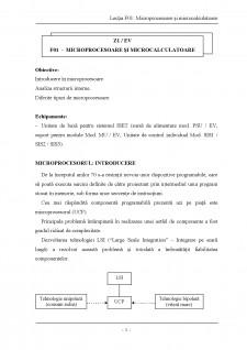 Descrierea structurii microprocesoarelor si a blocurilor sale functionale - Pagina 1