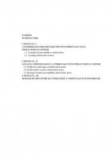Personalitatea infractorului minor - Pagina 1