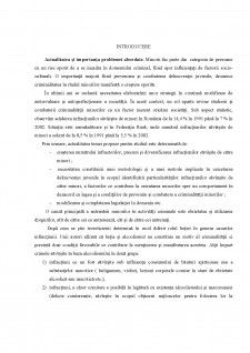 Personalitatea infractorului minor - Pagina 2