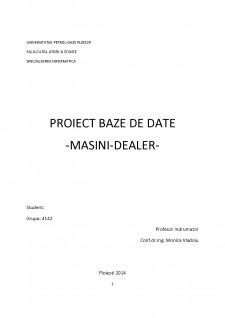 Baze de date - Dealer masini - Pagina 1