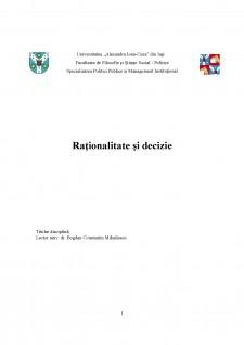 Raționalitate și decizie - Pagina 1