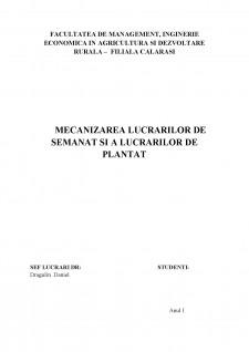 Mecanizarea lucrarilor de semanat si a lucrarilor de plantat - Pagina 1