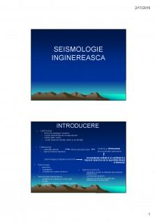 Seismologie inginereasca - Pagina 1