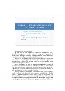 Tehnica operațiunilor de comerț exterior - Pagina 1