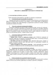 Managementul calitatii - Pagina 1