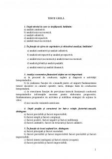 Test grila - Contabilitate - Pagina 1