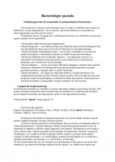 Bacteriologie speciala - Pagina 1