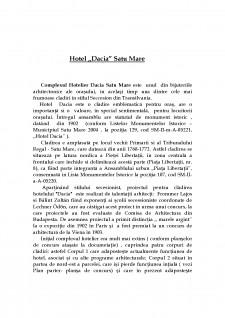 Lucrare de cercetare Hotel Dacia Satu Mare - Pagina 2