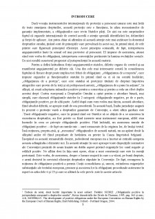 Obligații pozitive - Pagina 1