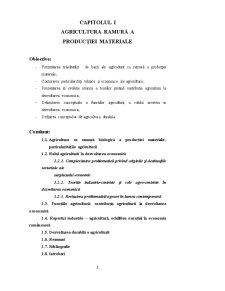 Agricultura Ramură a Producției Materiale - Pagina 1