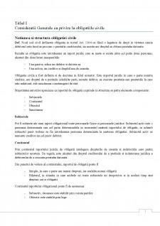 Teoria generala a obligatiilor - Pagina 1