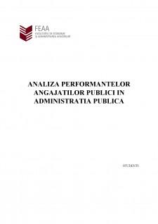 Analiza performantelor angajatilor publici in administratia publica - Pagina 1