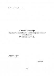 Organizarea și conducerea contabilității cheltuielilor și veniturilor la SC Simultan SRL - Pagina 2