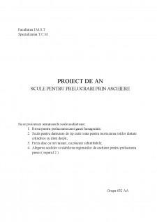 Scule pentru prelucrări prin așchiere - Pagina 1