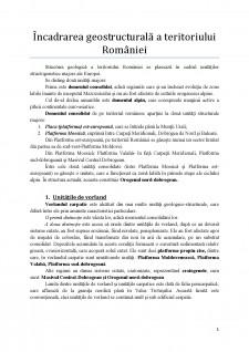 Încadrarea geostructurală a teritoriului României - Pagina 1