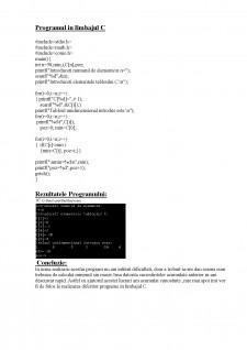 Prelucrarea tablourile unidimensionale - Pagina 3
