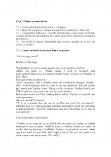 Engleza pentru birou - Pagina 1