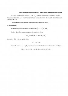 Elemente cu secțiune dreptunghiulară dublu armată - Pagina 5
