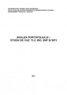 Analiza portofoliului - studiu de caz TLV, BIO, SNP și SIF3 - Pagina 1