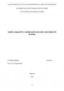 Analiza comparativă a calculatoarelor personale comercializate în România - Pagina 1