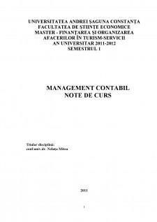 Management contabil - Pagina 1