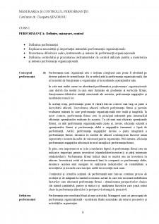 Măsurarea și controlul performanței - Pagina 1