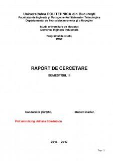 Raport de cercetare - Mecanism picior robot - Pagina 1