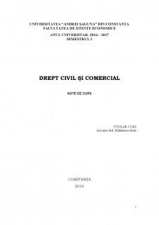 Drept civil și comercial - Pagina 1