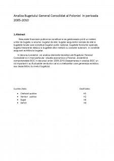 Analiza Bugetului General Consolidat al Poloniei în perioada 2005-2010 - Pagina 3