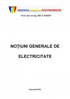 Noțiuni generale de electricitate - Pagina 1