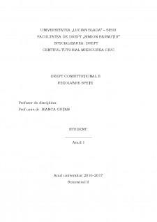 Drept constituțional - Spețe - Pagina 1