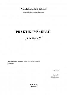 Praktikumsarbeit - Recon AG - Pagina 1