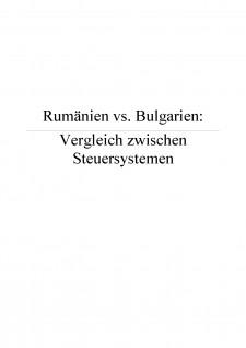 Rumanien vs Bulgarien - Vergleich zwischen Steuersystemen - Pagina 1