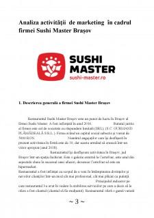 Analiza activității de marketing în cadrul firmei Sushi Master Brașov - Pagina 3