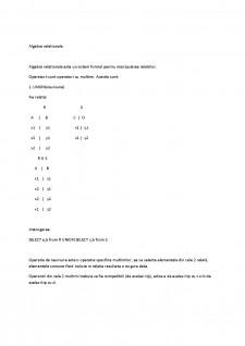 Algebra relationala - Pagina 1