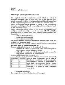 Baze de Date - Microsoft Access - Pagina 1