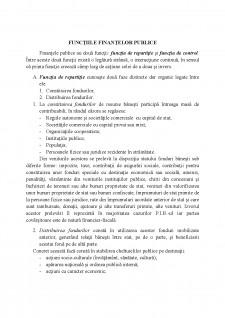 Funcțiile finanțelor publice - Pagina 1