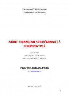 Audit financiar și guvernanță corporativă - Pagina 2