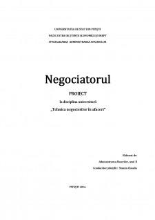 Tehnica negocierilor in afaceri - Negociatorul - Pagina 1
