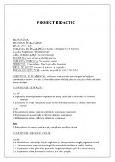 Proiect didactic AVAP clasa pregatitoare - 1 Decembrie - Ziua Nationala a Romaniei - Pagina 1