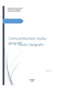 Comuna Munteni, studiu geografic - Pagina 1