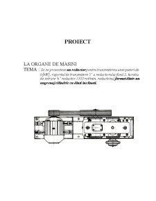 Organe de Masini Proiectare Reductor - Pagina 1