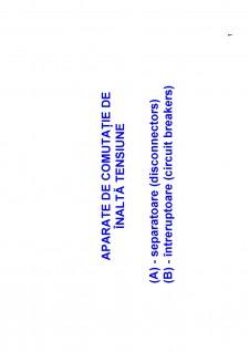 Aparate de comutație de înaltă tensiune - Pagina 1