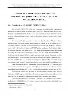 Studiu privind organizarea evidenței cheltuielilor și a calculației costurilor la o societate comercială cu activitate de producție și posibilități de perfecționare a acesteia - Pagina 4