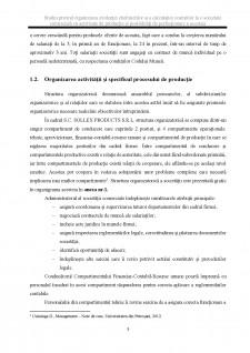 Studiu privind organizarea evidenței cheltuielilor și a calculației costurilor la o societate comercială cu activitate de producție și posibilități de perfecționare a acesteia - Pagina 5