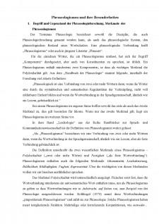 Phraseologismen und ihre Besonderheiten - Pagina 1