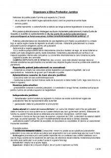 Organizarea și etica profesiilor juridice - Pagina 1