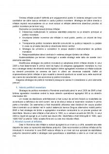 Analiza strategiei de țintire directă a inflației în România - Pagina 2